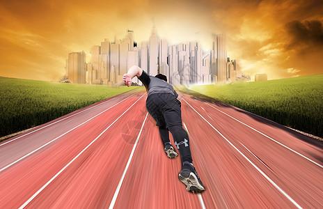 奔跑的男人图片