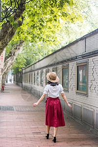 初夏衡山路街拍图片