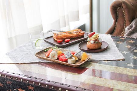 惬意午后咖啡厅美食图片