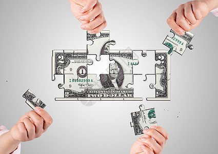 美元拼图1图片