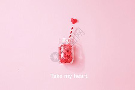爱心梅森瓶图片