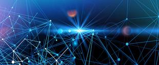 蓝色线条科技感背景图片