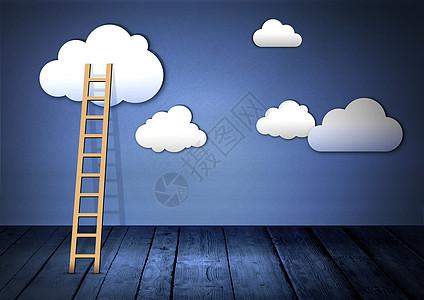爬上云端的梯子图片