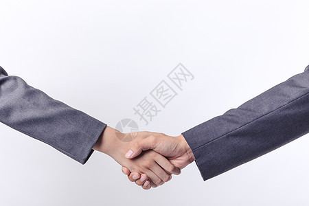 商务合作职业男女性握手图片