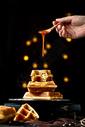 蜂蜜华夫图片