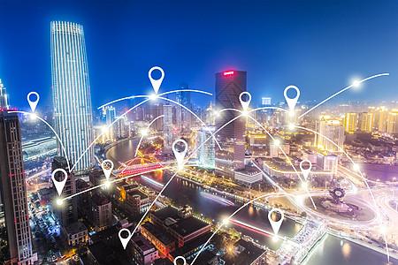 城市网络连接的概念图片
