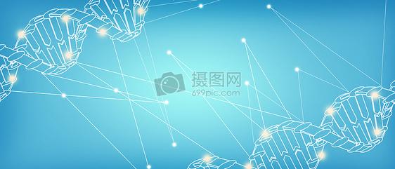 蓝色医疗科技banner背景图片