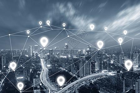 城市网络连接概念图片