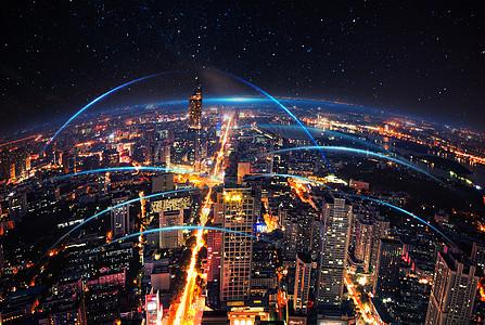城市光影图片