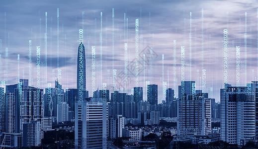 信息蓝色科技背景图片