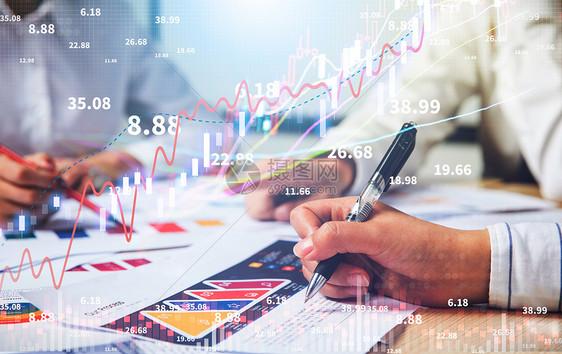 金融增长趋势图片