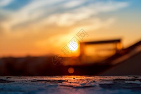 夕阳西下的唯美图片