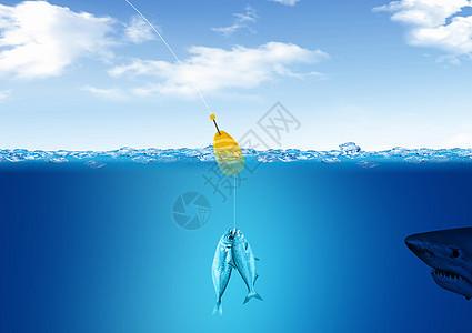 深海钓鱼概念图图片