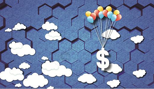 气球带飞金融图片