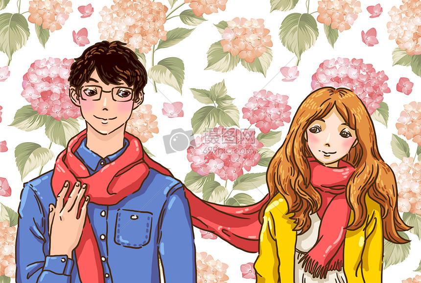 红围巾图片