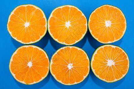 蜜橘果肉近景图片