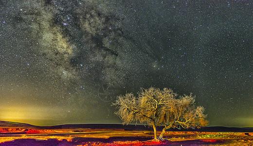 草原银河图片