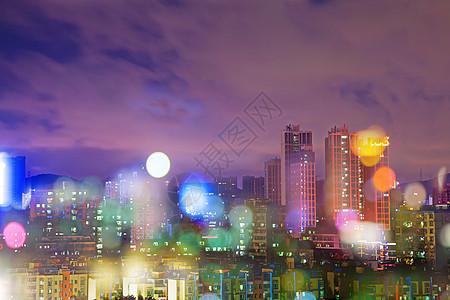 梦幻万家灯火城市风光夜景图片