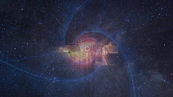 星空科技黑洞背景图片