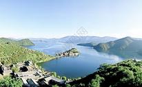 云南泸沽湖里格岛图片