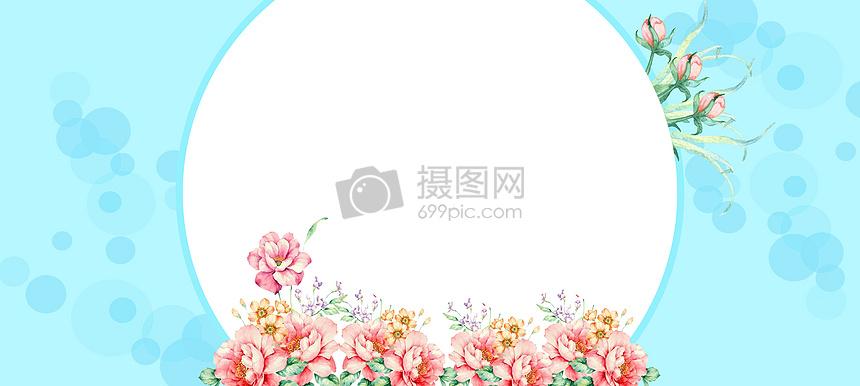 淡蓝花边小清新图片