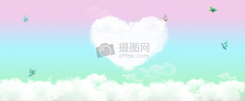 七夕渐变背景图片