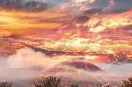 红色火山图片