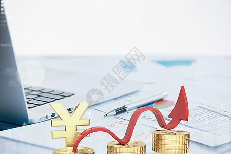 经济工资增长信息图图片