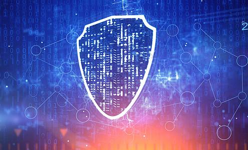 网络安全盾牌概念图片