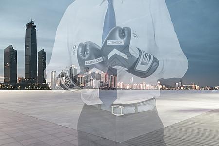 无畏艰险的商务人士图片