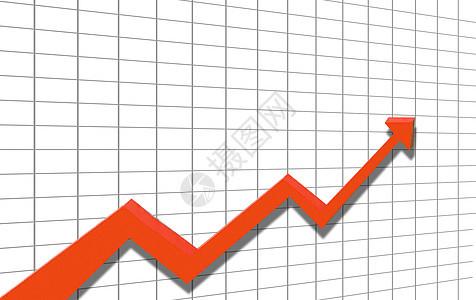 股市上升箭头图片
