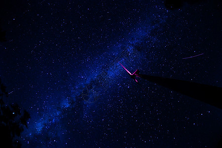 银河星空星轨图片