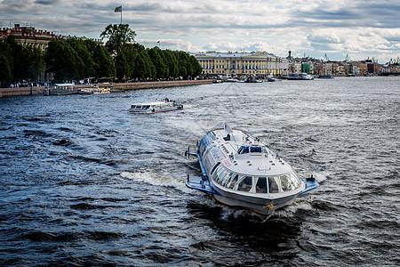 俄罗斯圣彼得堡游船图片