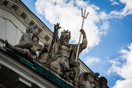 俄罗斯圣彼得堡建筑雕塑图片
