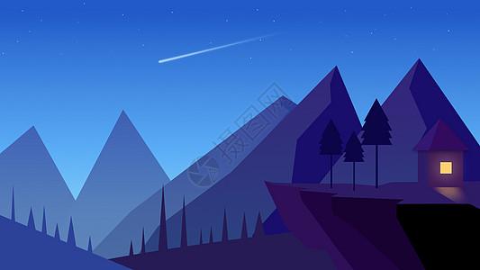 静谧的山谷插画图片