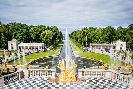 俄罗斯喷泉图片