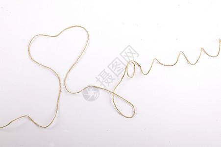绳子线条爱心高清图片
