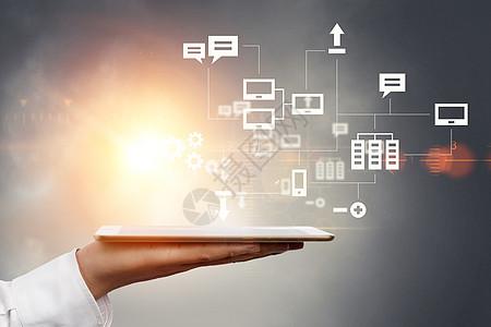 平板电脑的科技商务图片
