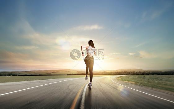 向前奔跑图片