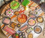 海鲜牛蛙香辣火锅大餐图片