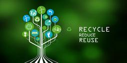 创意绿色环保标志图片