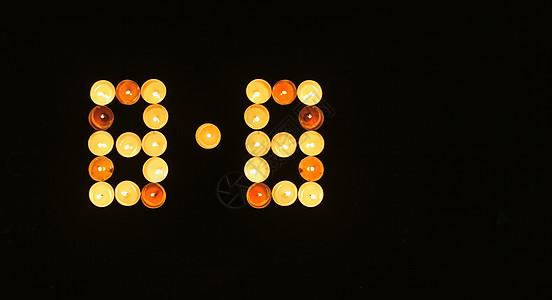 蜡烛摆成8.8样子图片