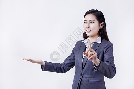 职业亲和女性手势点击图片
