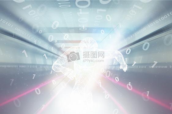 数字科技线条超人图片