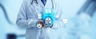 互联网在线医疗科技banner背景图片