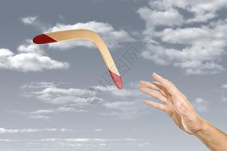 手投掷回旋镖图片