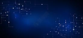 蓝色科技感线条图片