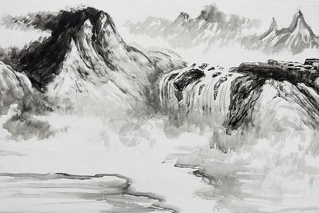 中国传统水墨国画艺术图片