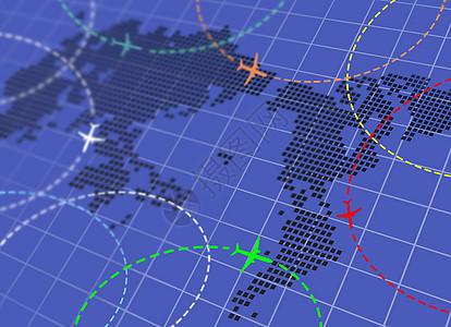飞行航线图片