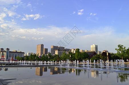 喷泉广场图片